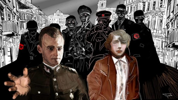 Warsaw Spies, illustration to THE HEROES AND THE BEASTS tour