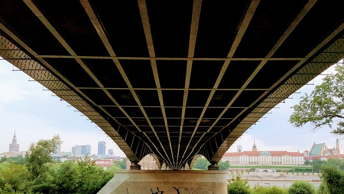 Other arresting Warsaw tours: View from under the bridge