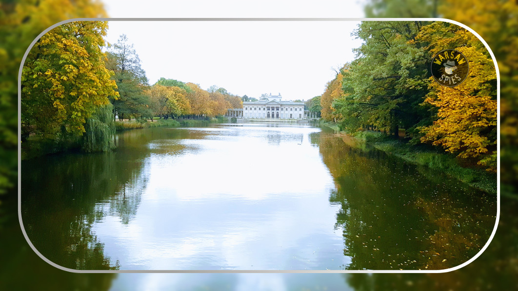 Warsaw, the Royal Łazienki Park and the Palace on the Isle, autumn